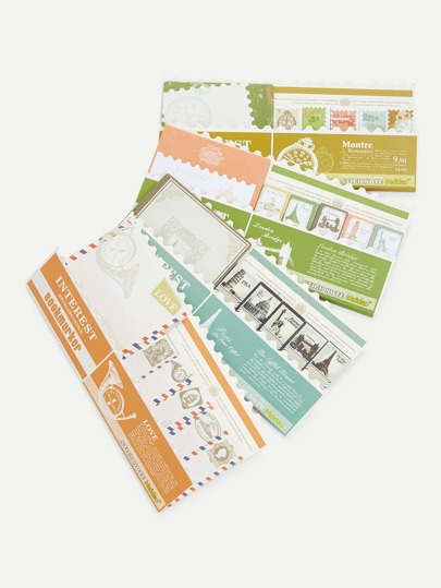 Stamp Shaped Sticky Bookmark Set