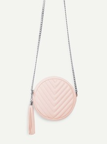 Tassel Detail Ball Design Chain Bag