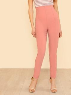 High Waist Skinny Suit Pants SALMON