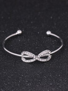 Infinite Bow Cuff Bangle 1pc