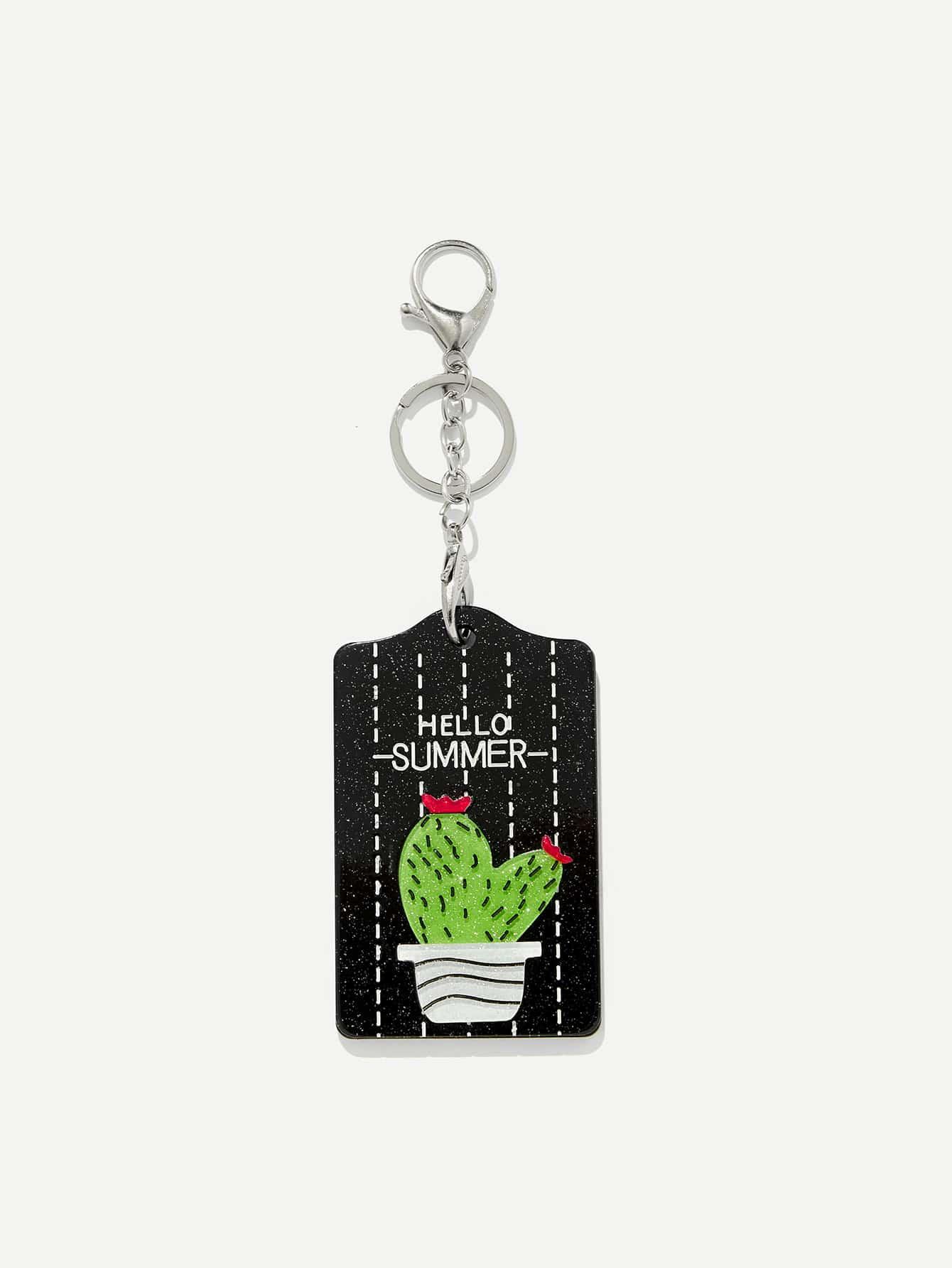 Cactus Pattern Keychain все цены