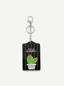 Cactus Pattern Keychain