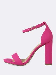 Open Toe Dressy Sandal HOT PINK