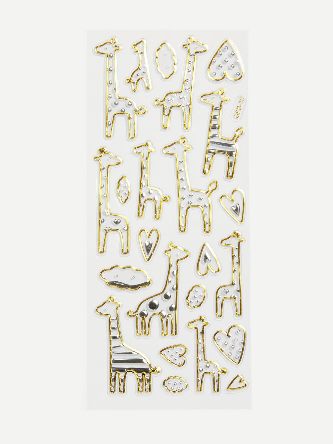 Cartoon Giraffe Wall Stickers giraffe animal removable wall stickers for kids
