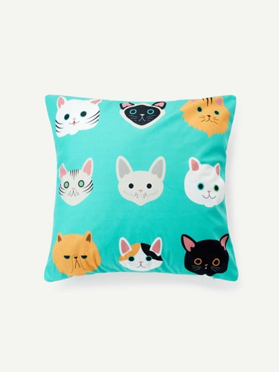 Cat Overlay Print Cushion Cover
