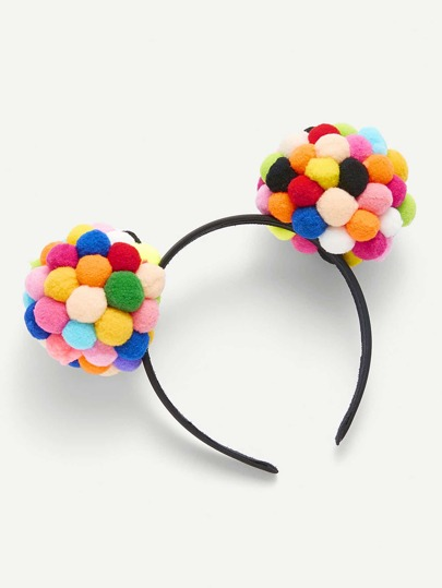 Pom Pom Ear Design Headband