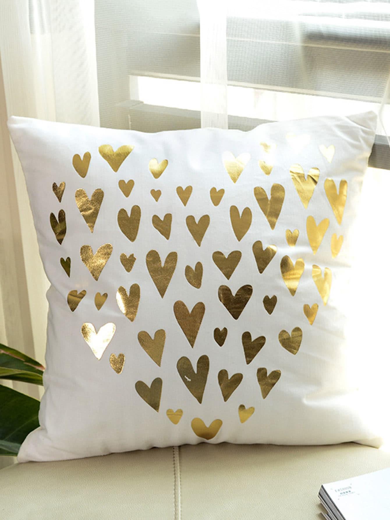 Heart Print Decorative Pillowcase Cover