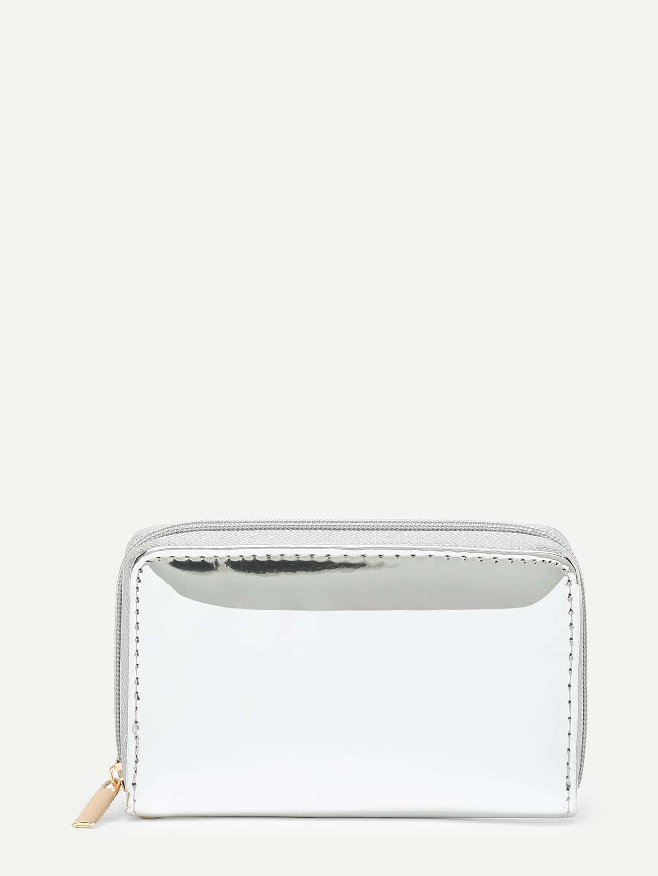 PU Wallet With Ring Handle iridescent pu wallet