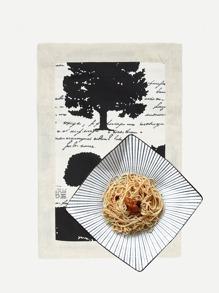 Tree Print Dining Mat