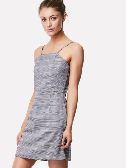 Check Plaid Cami Dress