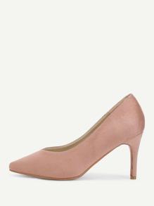 Pointed Toe Suede Stiletto Heels