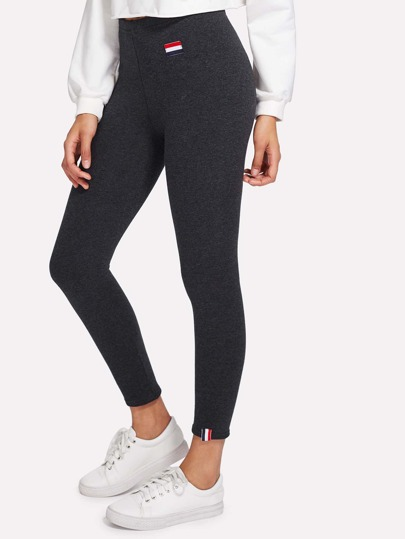 Schmale Leggings mit Flicken