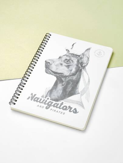 Dog Print Spiral Binding Notebook