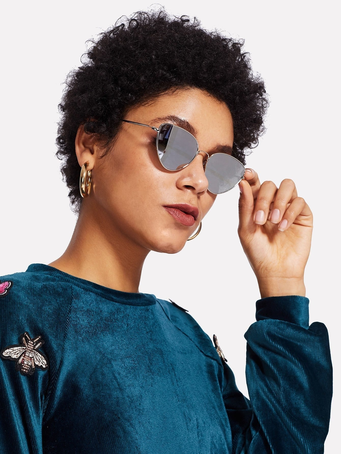 Cat Eye Metal Frame Sunglasses cat eye glasses tinize 2015 tr90 5832