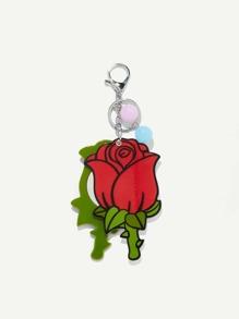 Rose Shaped Keychain