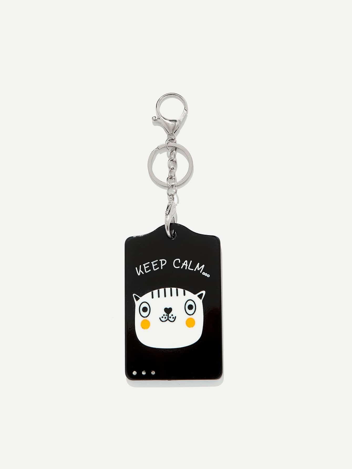 Cat Pattern Keychain все цены