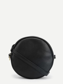 Round PU Crossbody Bag