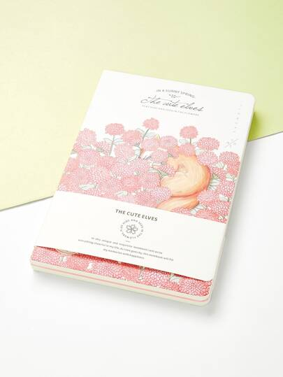 Flower & Animal Print Cover Notebook