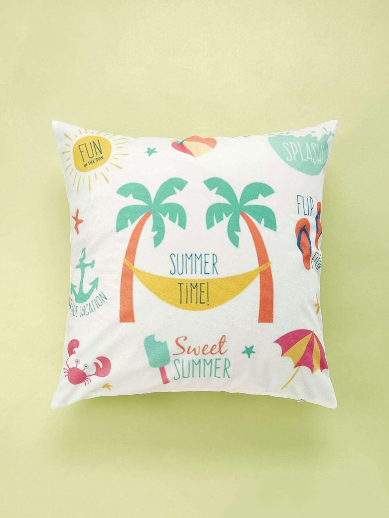 Beach Print Cushion Cover