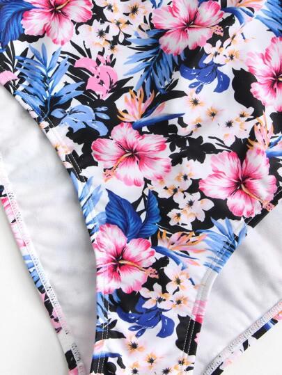 Knot Front Open Back Swimwear
