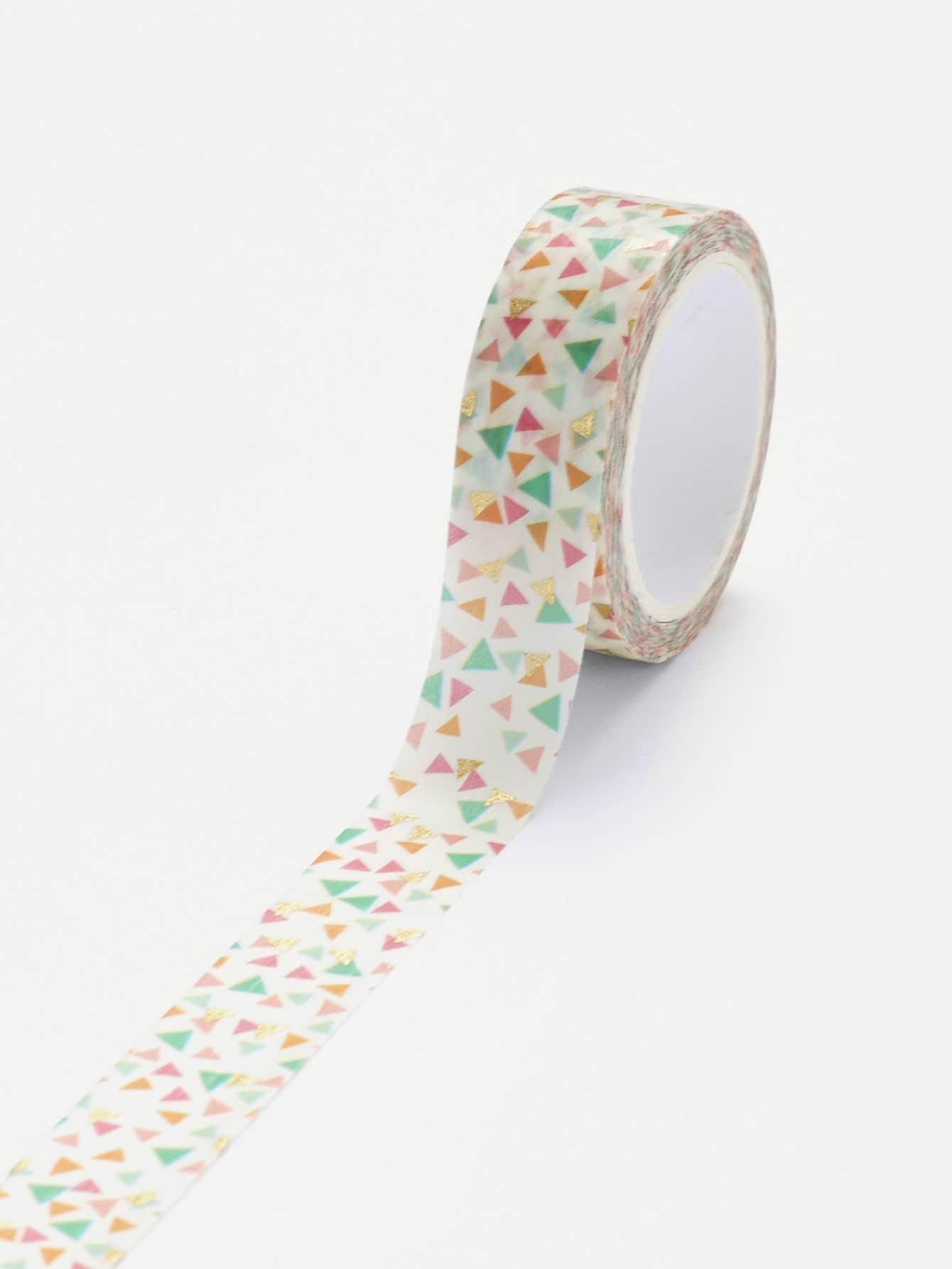 Triangle Print Masking Tape metallic masking tape