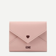 Heart & Letter Embroidered PU Purse (bag180125329) photo