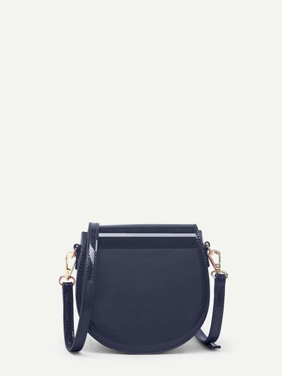 PU Saddle Crossbody Bag