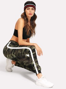 Tape Side Camo Leggings