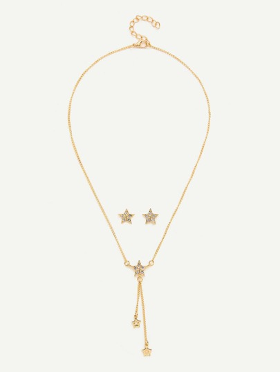 Star Pendant Necklace & Stud Earrings