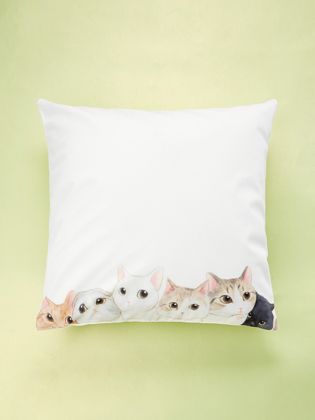 Cat Print Cushion Cover