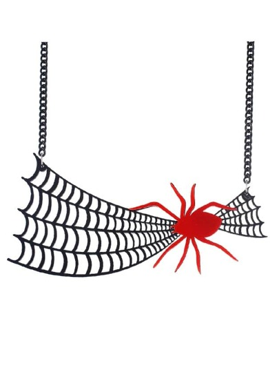 Cobweb Spider Necklace