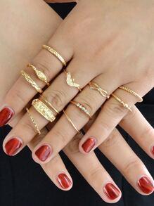 12Pcs/Set Knuckle Ring Set
