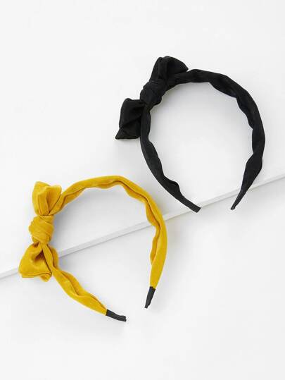 Knot Design Headband 2pcs