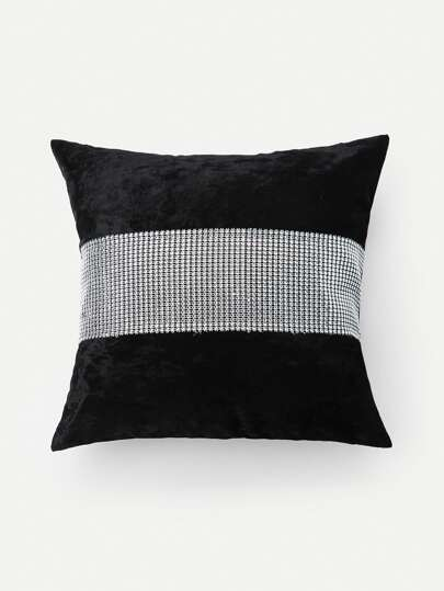 Contrast Tape Pillow Case