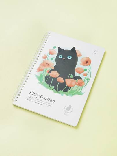 Cat Pattern Cover Notebook