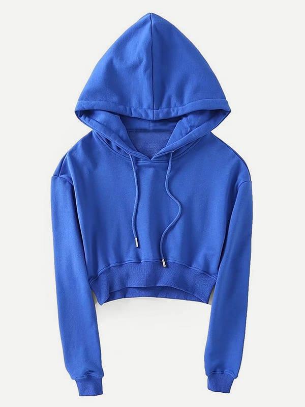 Drawstring Crop Hoodie kids drawstring hoodie jacket