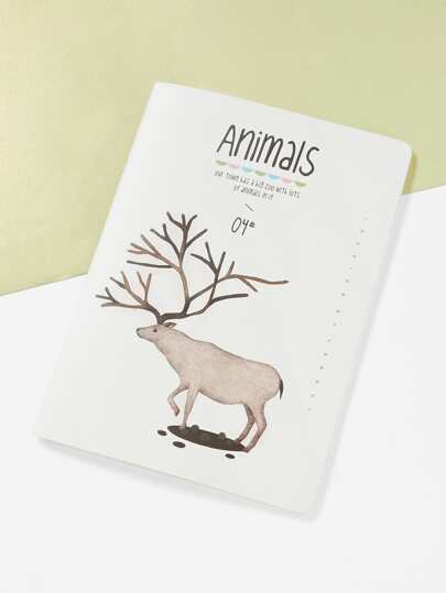 Elk Print Cover Notebook