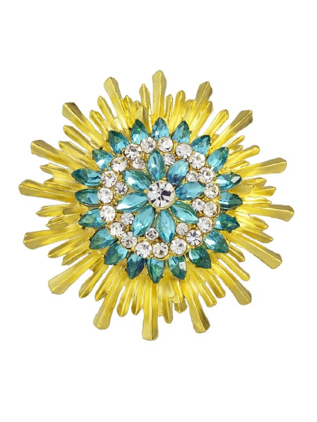 Rhinestone Flower Brooch flower shape rhinestone brooch