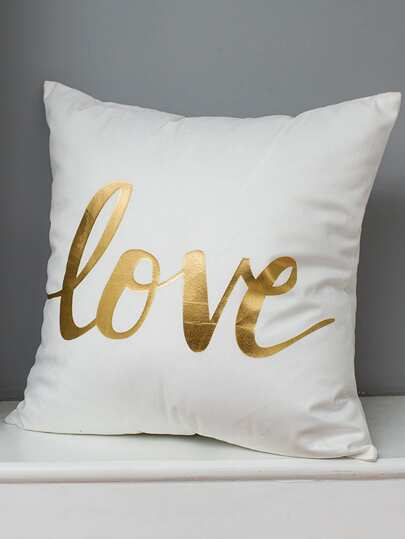 Love Print Decorative Pillowcase Cover