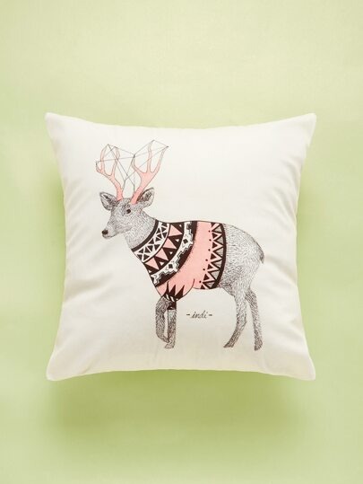 Deer Print Cushion Cover