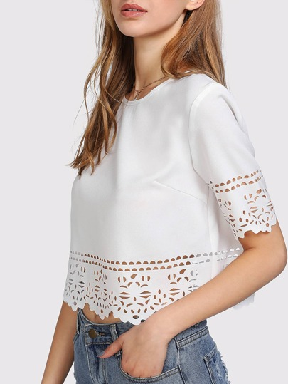 Keyhole Back Laser Cut Crop Top