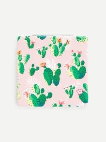 Cactus Print Portable Foldover Mirror