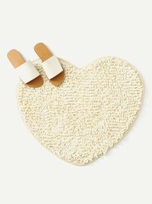 Heart Shape Microfiber Chenille Soft Fluffy Rug