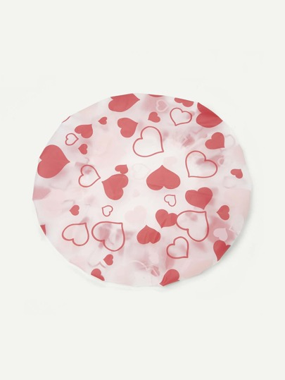 Heart Print Shower Cap
