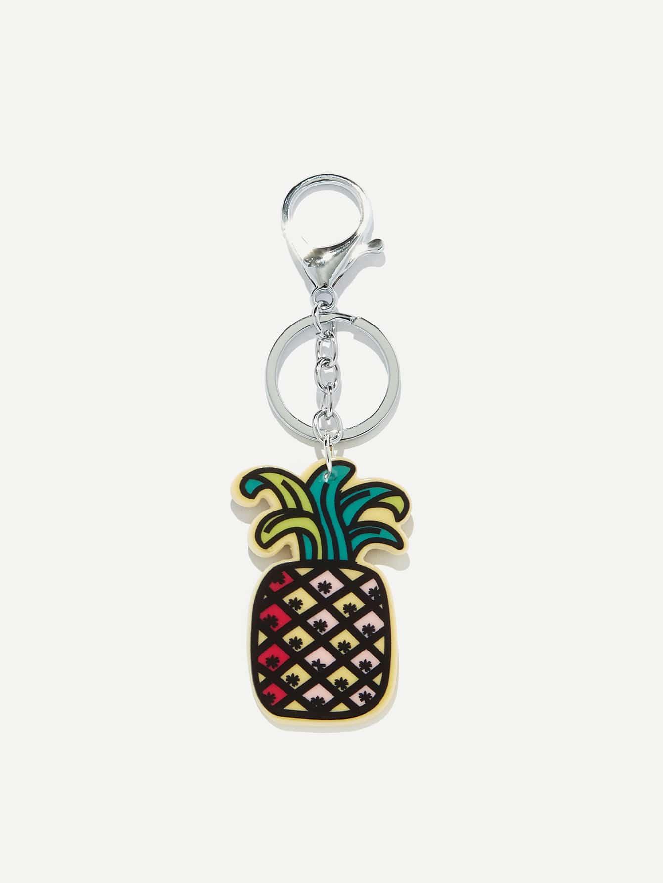 Pineapple Shaped Keychain pineapple shaped pu bag