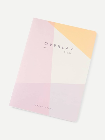 Color Block Cover Notebook