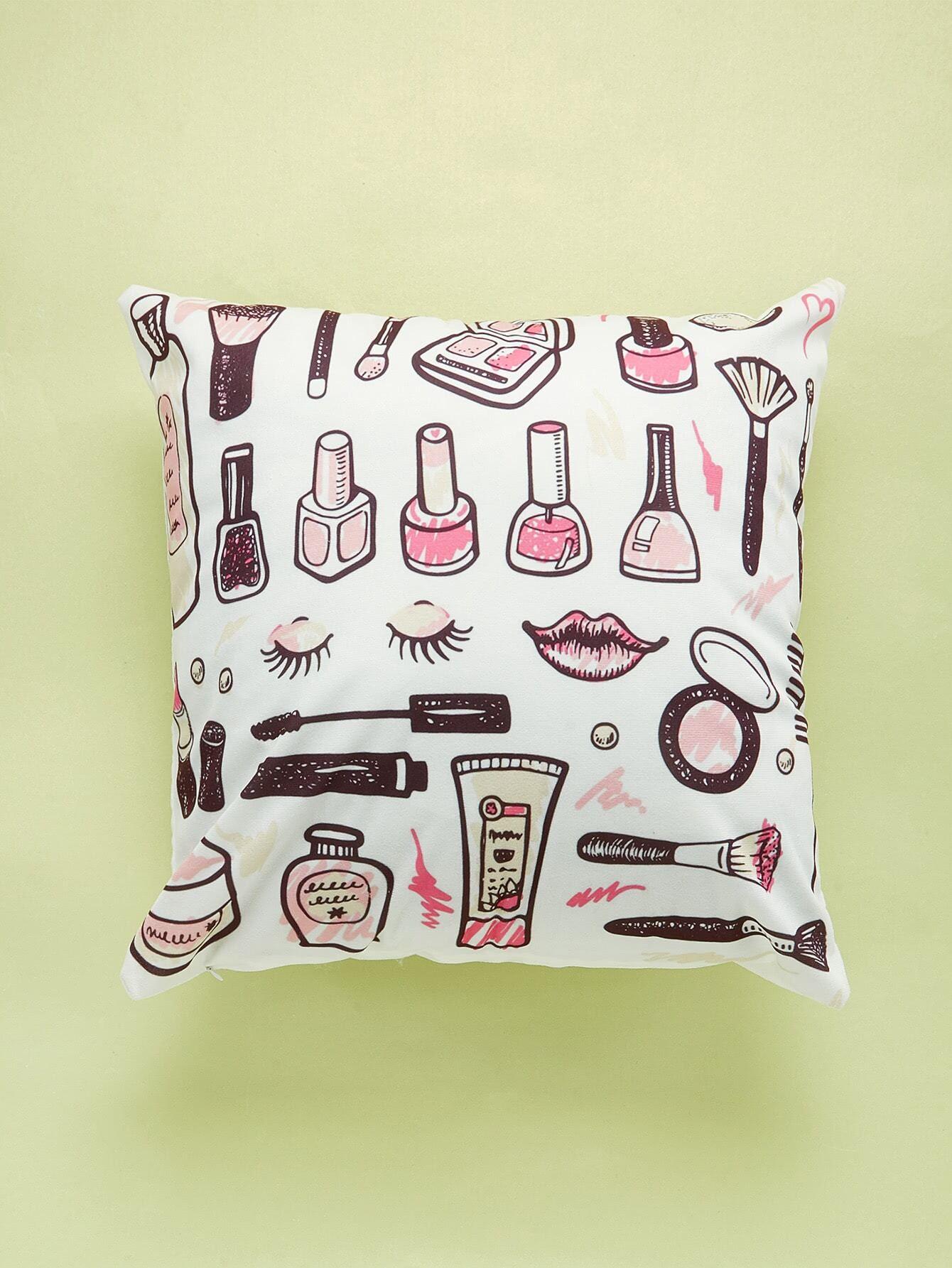 Comestics Overlay Print Cushion Cover