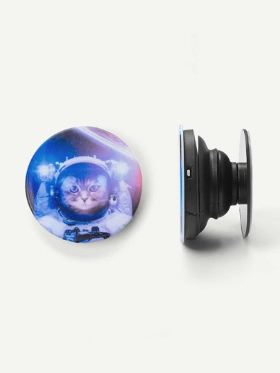 Cat Pattern Round Portable Phone Holder