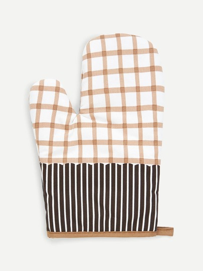 Plaid And Striped Oven Glove