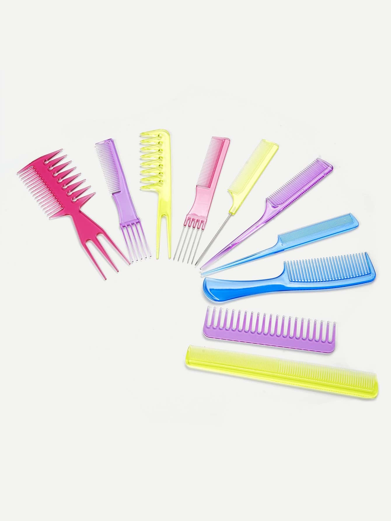 Multi Shaped Hair Comb Set high quality scalp massage comb 3 color mixed hair hair curls comb send elders the best gifts health care tools